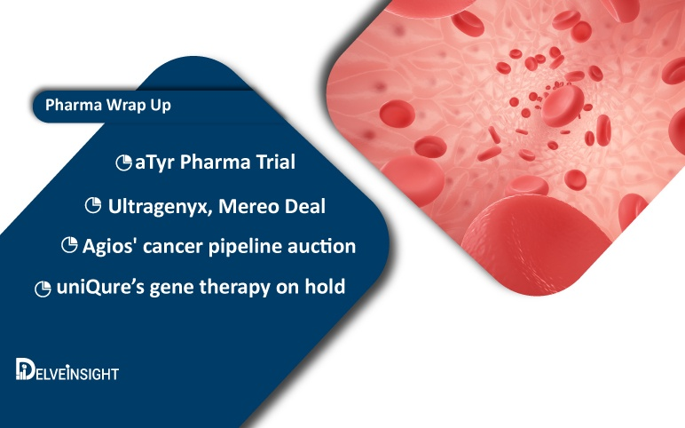 Agios' cancer pipeline auction; uniQure's gene therapy on hold; Ultragenyx, Mereo Deal; aTyr Pharma Trial