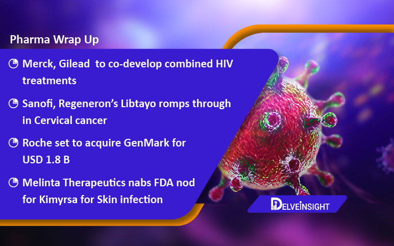 Merck, Gilead teams up for HIV treatment; Bright Future for Sanofi/Regeneron's Libtayo; Roche acquires GenMark; FDA okays Melinta's Kimyrsa