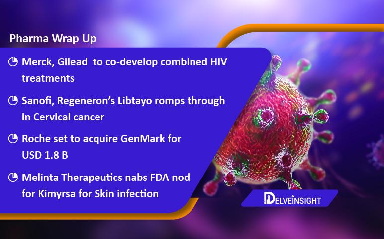 Merck, Gilead teams up for HIV treatment; Bright Future for Sanofi/Regeneron's Libtayo; Roche acquires GenMark; FDA okays Melinta's Kimyrsa